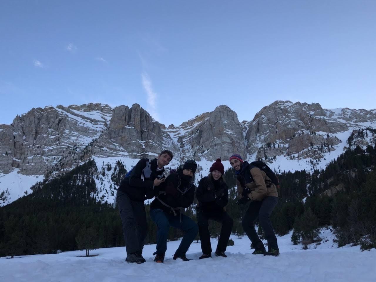 Grup de Joves volta per Prat de Cadí 9 de desembre 2018